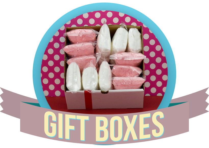 Red and White Cotton Candy Gift Box