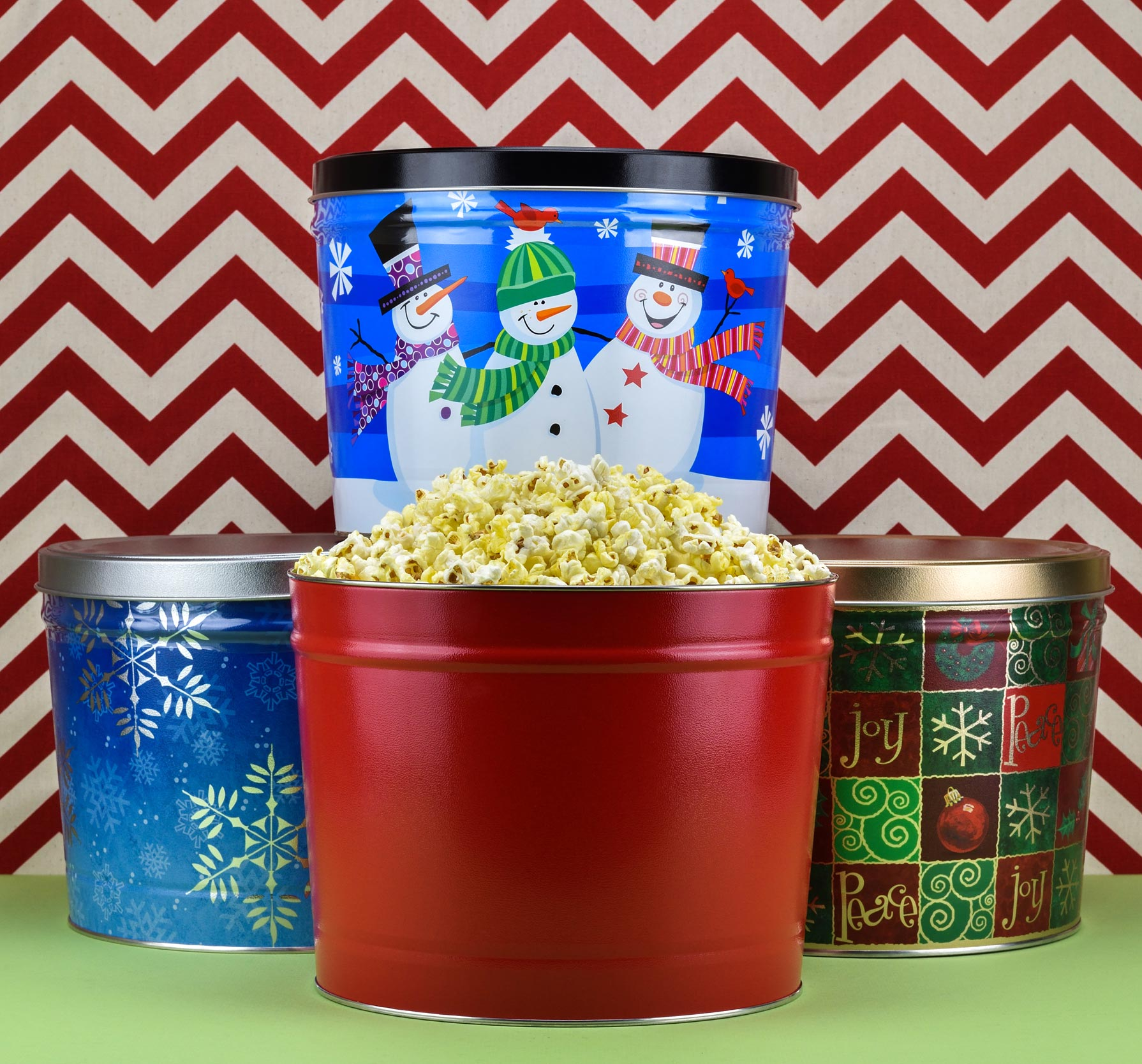 Large Buttery Popcorn Tins