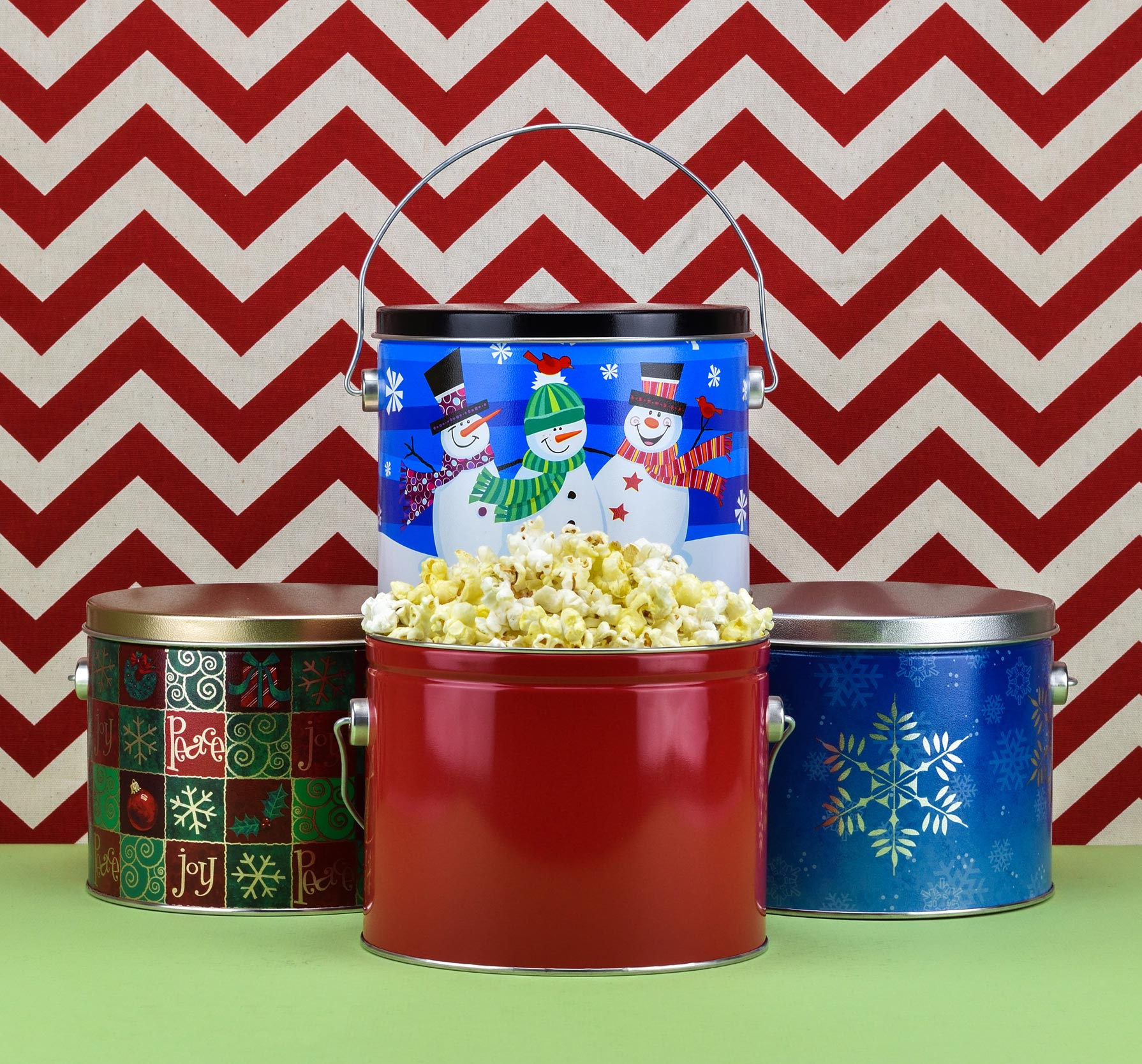 Small Buttery Popcorn Tins