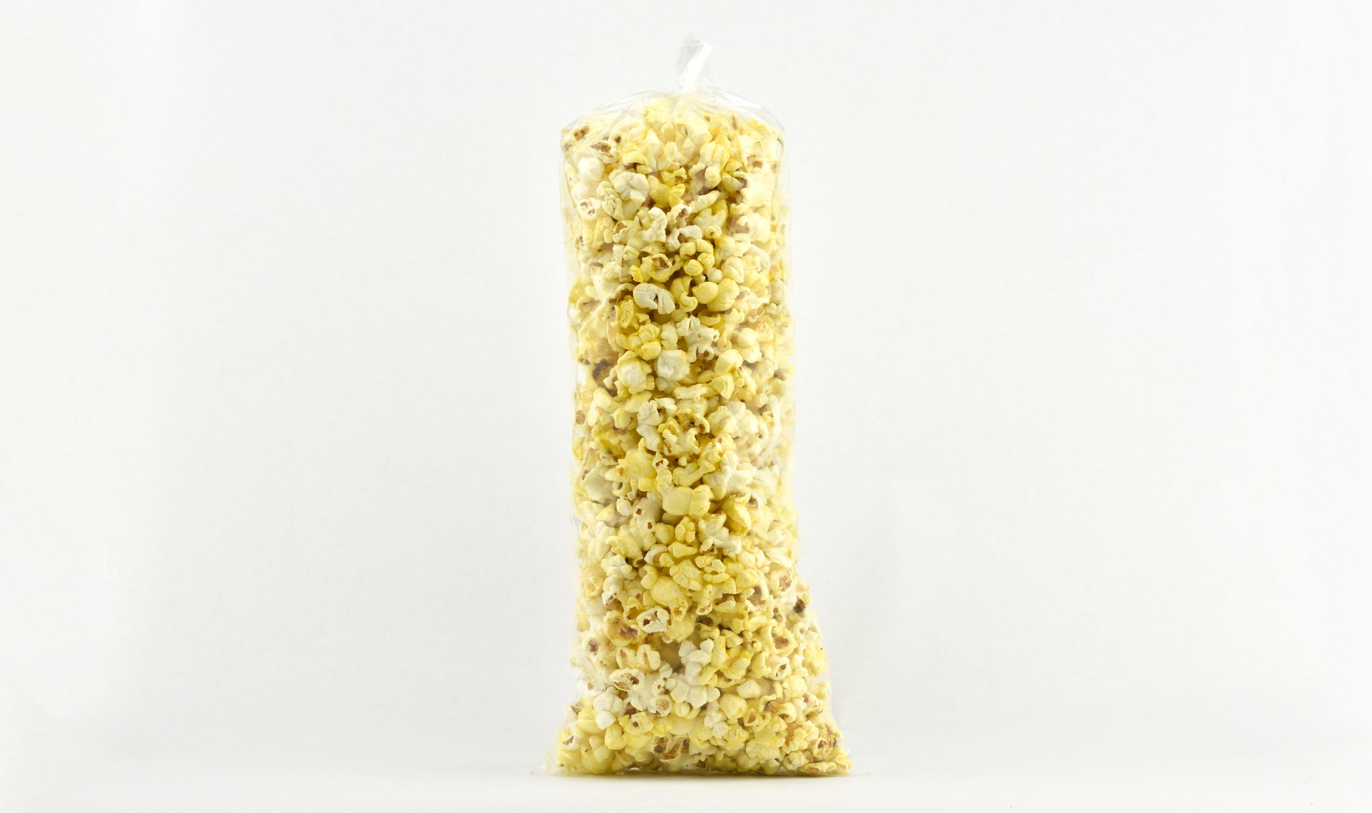 pre-packaged .75 ounce twist sealed buttery popcorn bag