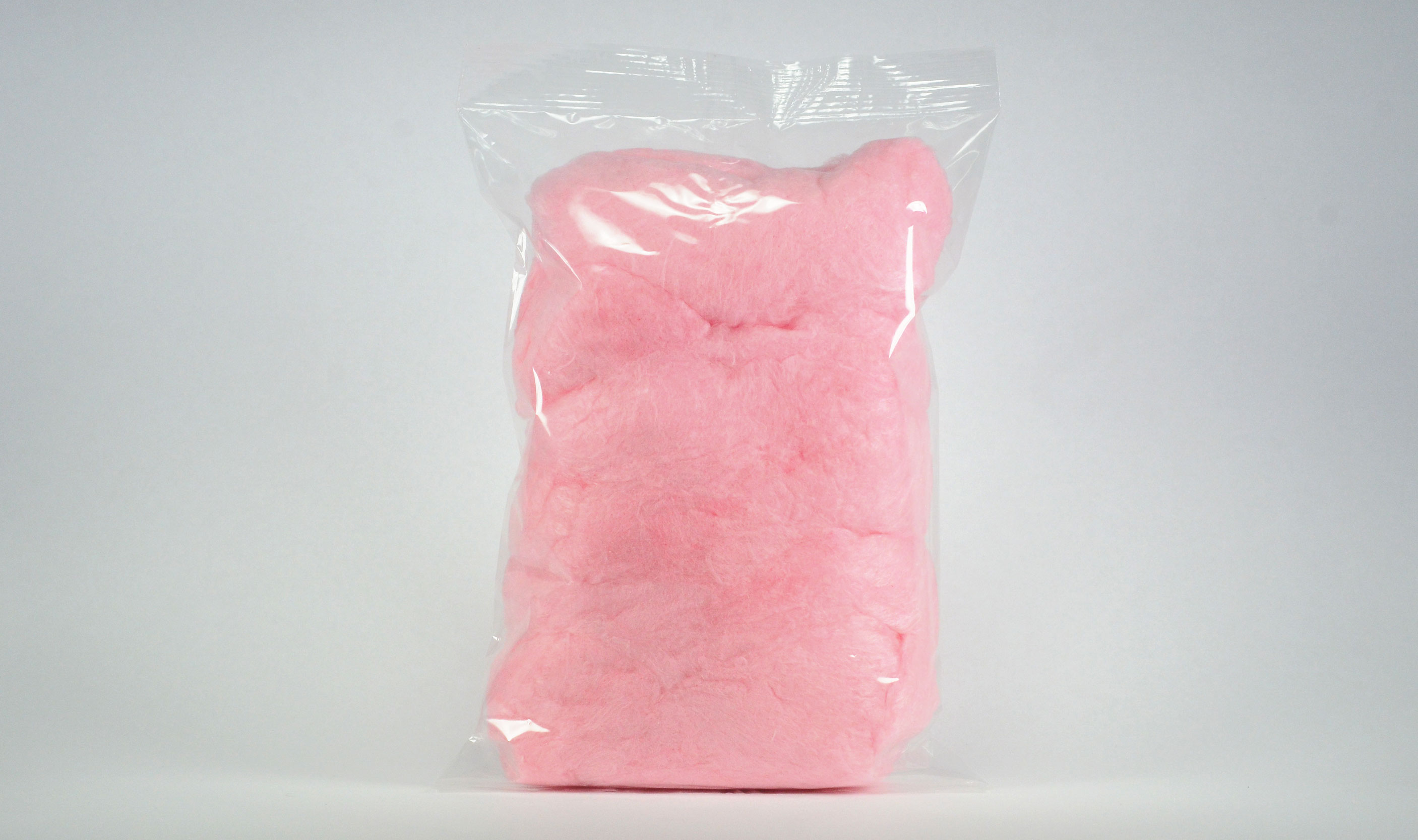 pre-packaged 3 oz heat sealed cotton candy bag